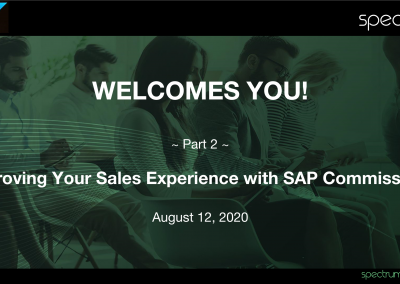 Webinar On-Demand: Improving Sales' Experience with SAP Commissions