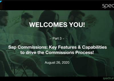 Webinar On-Demand: SAP Commissions – Key Features & Capabilities